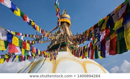 Buddhist religious centre Boudhanath Stupa in Kathmandu, Nepa Stock photo © meinzahn