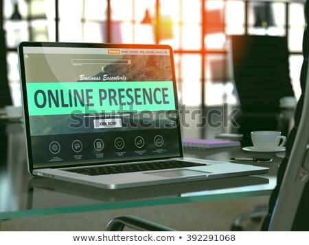 Landing pagina laptop zichtbaar 3d illustration display Stockfoto © tashatuvango