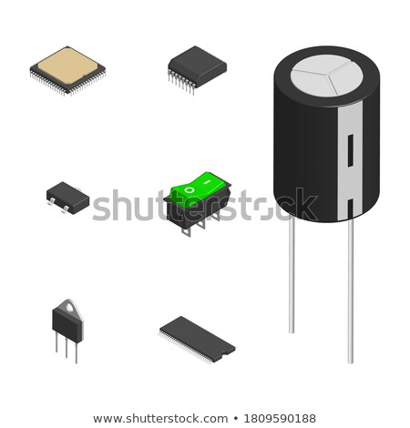 Set Of Different Resistors In 3d Vector Illustration Сток-фото © kup1984