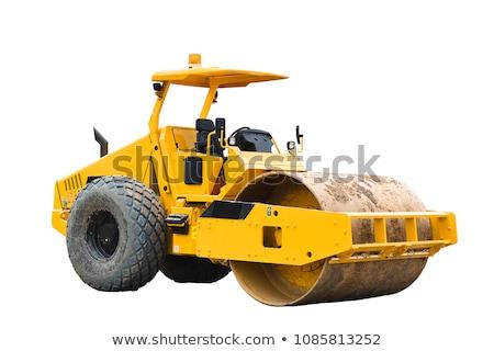 Road roller working Stock photo © michaklootwijk