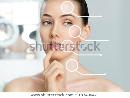 beauty woman head and shoulders portrait, clear shiny skin Stock photo © chesterf
