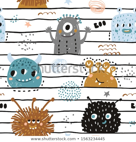 seamless monster pattern stock photo © zsooofija