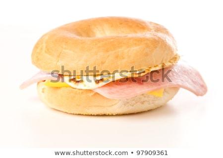 bagel sandwich with ham Stock photo © Digifoodstock