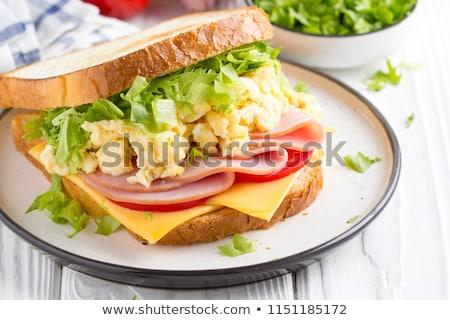 Sandwich eieren kaas witte voedsel Stockfoto © Digifoodstock