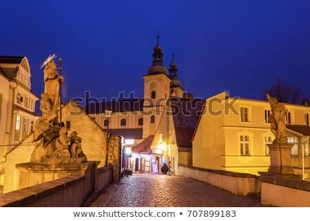 ville · Pologne · bâtiment · vert · bleu · architecture - photo stock © benkrut