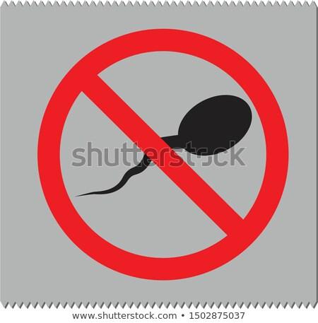 Sperma óvszer ikon vektor színes szín Stock fotó © ahasoft