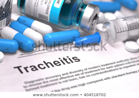 Nyomtatott diagnózis orvosi narancs sztetoszkóp tabletták Stock fotó © tashatuvango