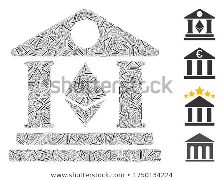 Ethereum Bank Building Flat Icon Stock photo © ahasoft