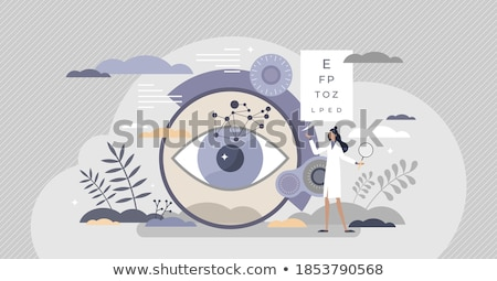 Diagnosis - Myopia. Medical Concept. Stock photo © tashatuvango