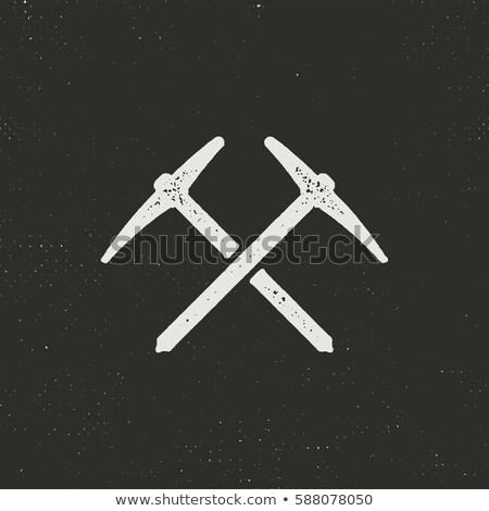dessinés · à · la · main · escalade · silhouette · icône · solide · pictogramme - photo stock © jeksongraphics