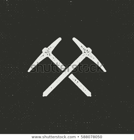 Dibujado a mano escalada silueta icono sólido pictograma Foto stock © JeksonGraphics