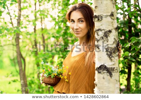 Woman and the birch Stock photo © Pilgrimego
