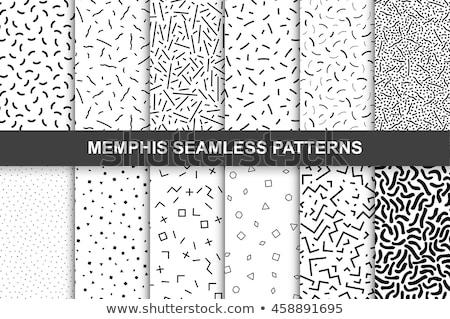 doodle seamless pattern in memphis style Stock photo © balasoiu