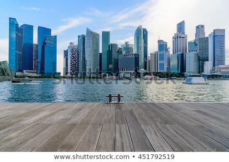 Singapour grand taille silhouette Photo stock © tony4urban