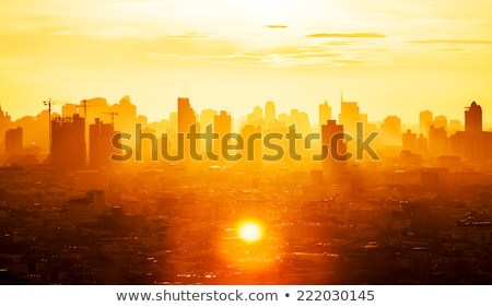 office building in business center bright colorful tone concept stock photo © janpietruszka