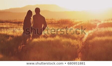 Coppia campo uomo natura viaggio ritratto Foto d'archivio © IS2