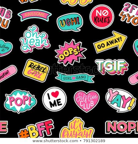 Fashion patch badges Stock photo © frescomovie
