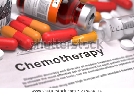Cancer Treatment - Medical Concept on Orange Background. Stock photo © tashatuvango