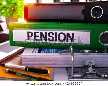 Pension vert bureau dossier image travail Photo stock © tashatuvango