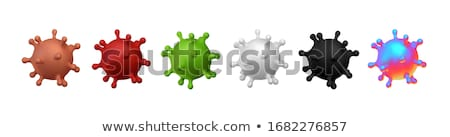 Bacteria virus cell, 3d illustration isolated black Stock photo © tussik