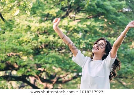 mujer · cuadro · libro · nuevo · hogar · papel - foto stock © is2