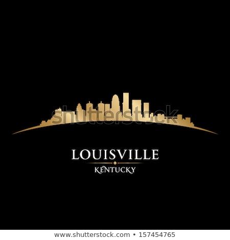 Louisville city silhouette on sunset background stock photo © Ray_of_Light