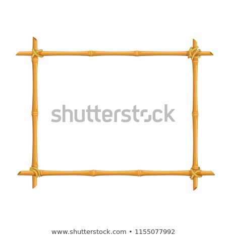 Stock photo: wooden frame of bamboo sticks
