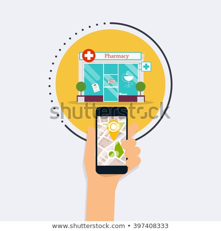Hospital search modern symbol concept Stock photo © krustovin