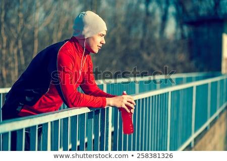 ital · energiaital · férfiak · sportok · fitnessz · nyugodt - stock fotó © FreeProd