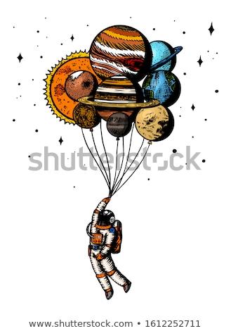 幸せ · 漫画 · 実例 · 惑星 · 見える · 笑みを浮かべて - ストックフォト © lenm