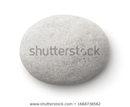 Beyaz taşlar yalıtılmış üst görmek doğa Stok fotoğraf © Bozena_Fulawka