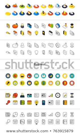 establecer · iconos · estilo · negro - foto stock © sidmay