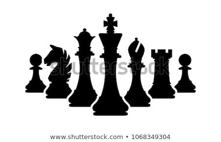 Rey del ajedrez icono ilustración blanco arte guerra Foto stock © get4net