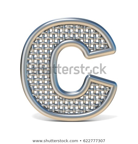 wire outline font letter c 3d stock photo © djmilic