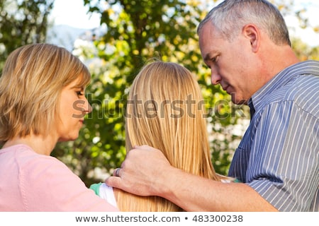 Teenage girl and parents Stock photo © IS2