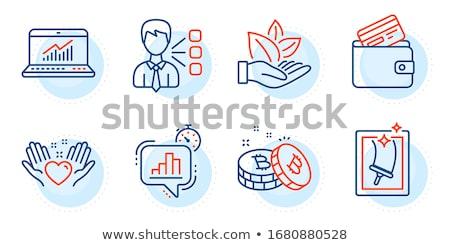 Bitcoin debitkártya gomb ikon modern pénzügyi Stock fotó © WaD