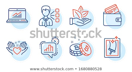 bitcoin debit card button icon stock photo © wad