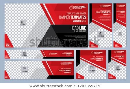 internet web banner size templates Stock photo © romvo