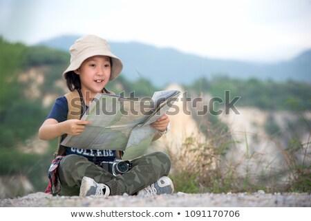 кемпинга · иллюстрация · мало · детей · ребенка · мальчика - Сток-фото © lenm