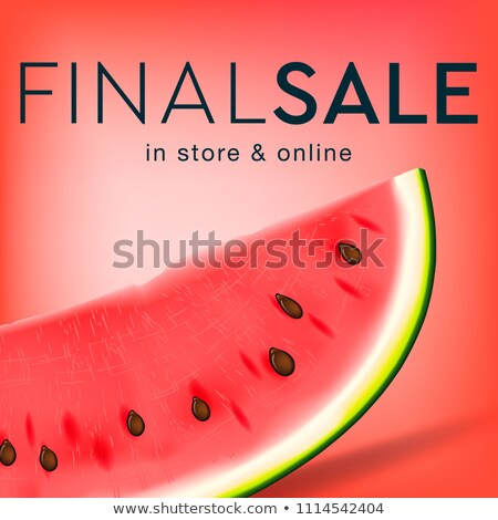 Final sale social media template for online store, watermelon slice background, vector illustration. Stock photo © ikopylov