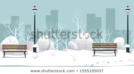 Рождества · зима · замок · вектора · силуэта · холме - Сток-фото © terriana