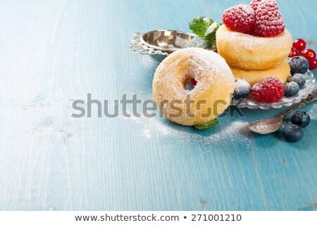 утра завтрак мини Ягоды пластина Сток-фото © Melnyk