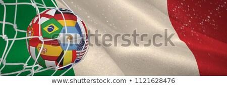 サッカーボール 目標 純 デジタル 生成された イタリア語 ストックフォト © wavebreak_media