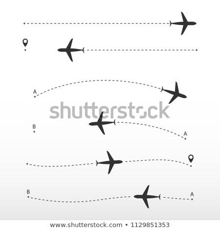 Vliegtuig route vector witte manier Stockfoto © AisberG