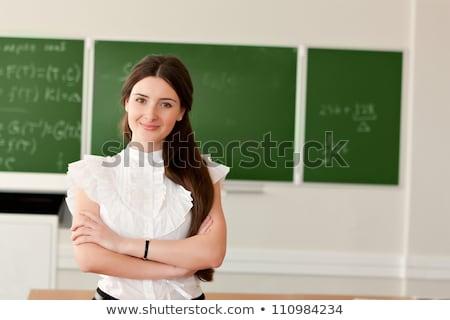 feminino · professor · conselho · menina · livro · educação - foto stock © voysla