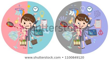 gray suit business womenmulch task switch stock photo © toyotoyo