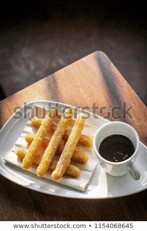 çikolata geleneksel İspanyolca tatlı kahvaltı ayarlamak Stok fotoğraf © travelphotography