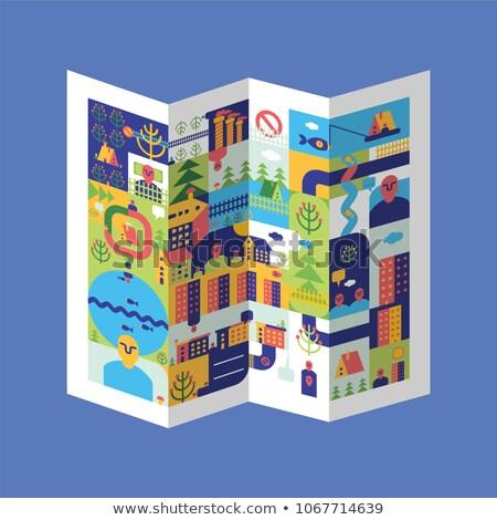 Város térkép helyi kártya ház épület Stock fotó © popaukropa