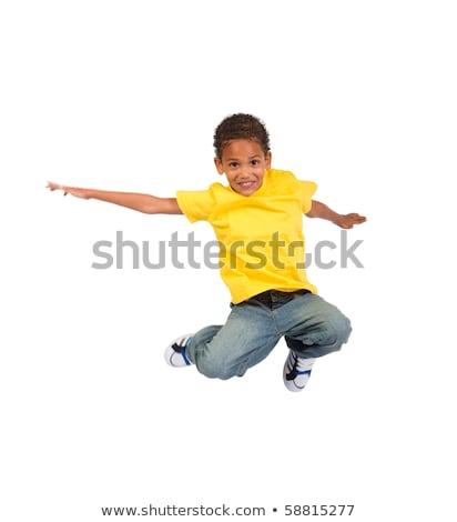 Afrikaanse jongen activiteiten illustratie boek gelukkig Stockfoto © bluering