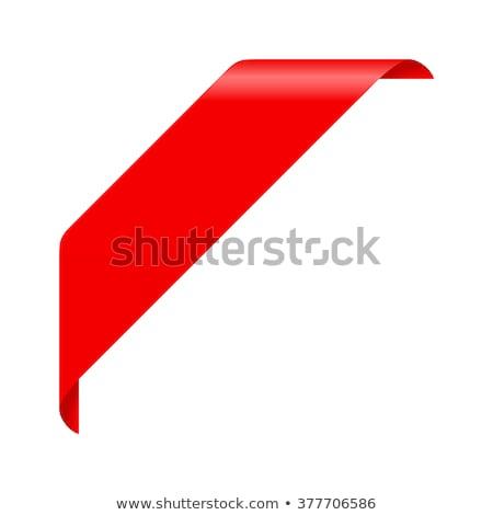 nowego · czerwony · rogu · działalności · wstążka · biały - zdjęcia stock © orson